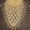 Бактус-шаль Четырехлистник на соломоновых петлях ручной работы