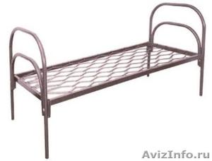 Железные армейские кровати, одноярусные металлические для больниц, бытовок, опт. - Изображение #2, Объявление #1480295
