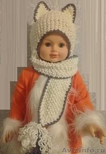 Шапочка-шарф Кошка для девочки - Изображение #1, Объявление #1598350