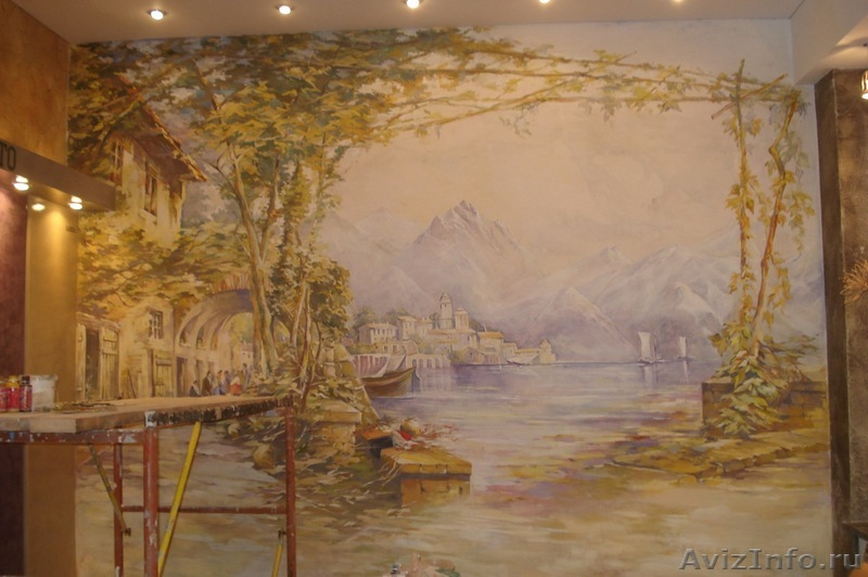 Виды декоративной росписи стен