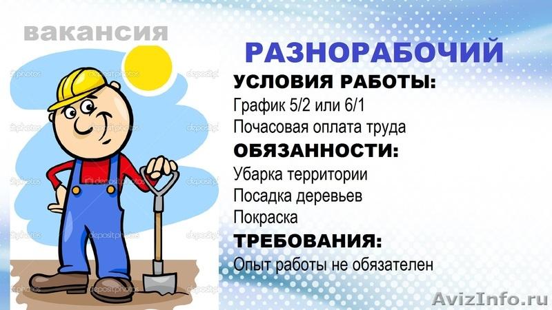 Вакансия подсобник почасовая оплата москва